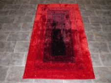 Modern Aprox 5x3 80x150cm Woven Backed Top Quality Sparkle Red Rugs Shaggy New
